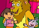 Dora and León Online Coloring