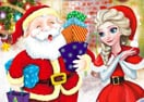 Elsa Fazendo Presentes de Natal