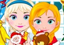 Bebês Elsa e Anna - Compras de Natal