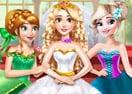 Princesa Rapunzel Vestido de Casamento