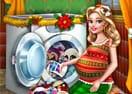 Lavando os Brinquedos de Natal