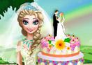 Elsa's Wedding Cake Cooking
