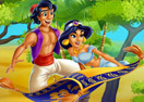 Jasmine And Aladdin Kissing