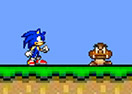 Jogo Sonic in Mario Crazy World Online Gratis