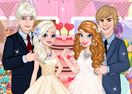 Elsa And Anna Wedding Party