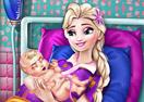 Jogo Pregnant Elsa Baby Birth