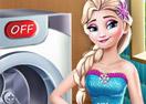 Jogo Elsa Wash Clothes